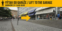 V%c3%bdtah do gar%c3%a1%c5%bee lift to the garage 2400 600 nadrazni 23 sipka