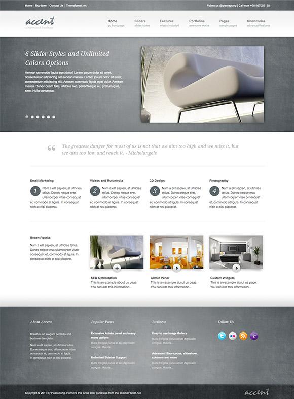 Accent - Site professionel pour entreprise