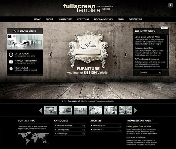 Fullscreen - Thème payant pour entreprise et portfolio