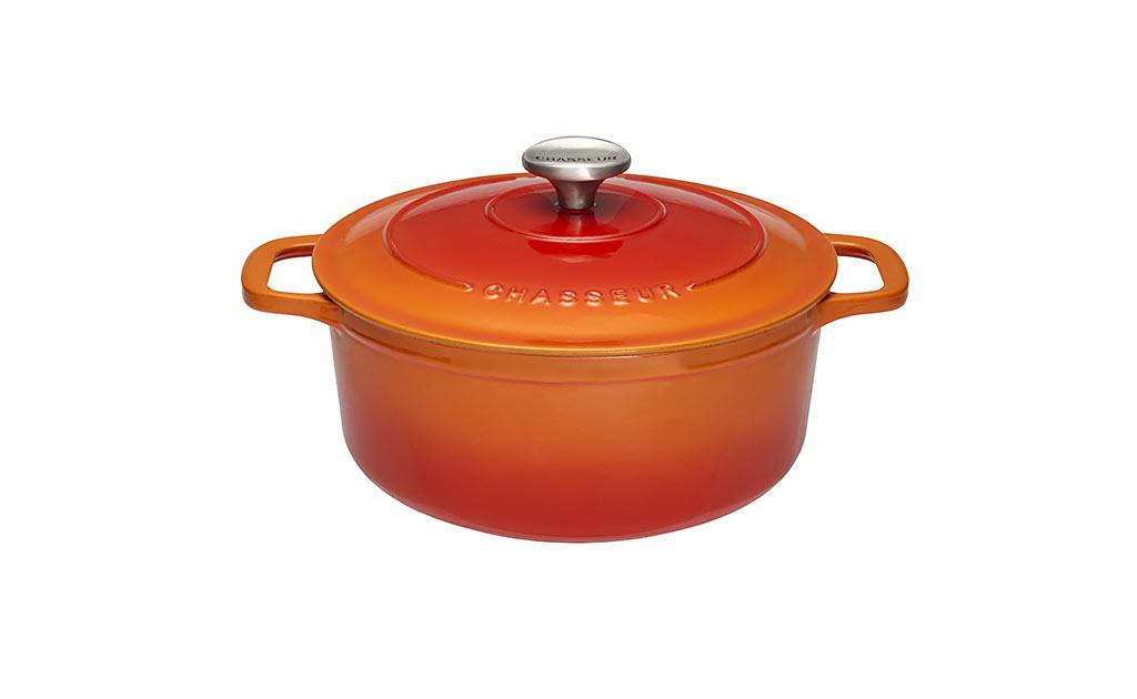 97d13103ac82d0 Chasseur Cocotte Ronde en Fonte Émaillée Orange 0,6l - 12cm - Muller ...