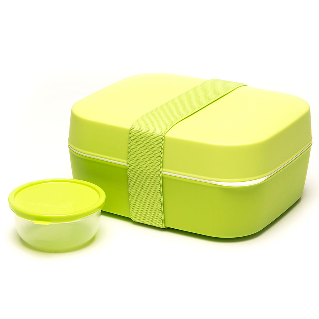 2bb47a9e1d510a Amuse Basic Lunch Box 3-in-1 green 18x15x8.5cm - Muller kitchen and  tableware