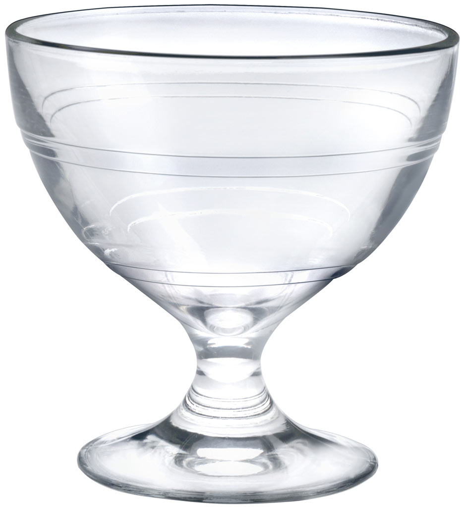 Duralex 6 Footed Dessert Coupes in Tempered Glass Gigogne