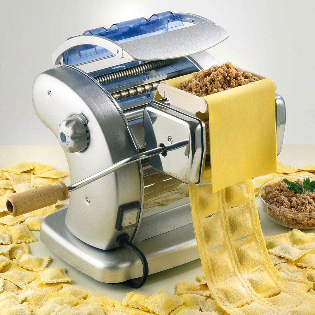 Pi/èce jointe Ravioli Maker for M/élangeurs Pie P/âtes Support rouleau nouilles Maker machine m/énagers en acier inoxydable Machine A Pate