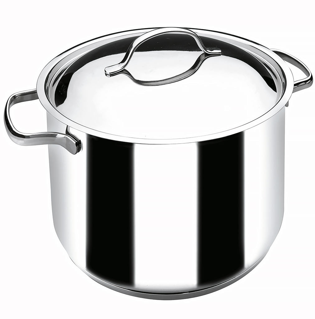 c4d6d4bf74e37e Lacor Marmite avec Couvercle en Inox 18 10 Basic 10l - 28cm - Muller kitchen  and tableware