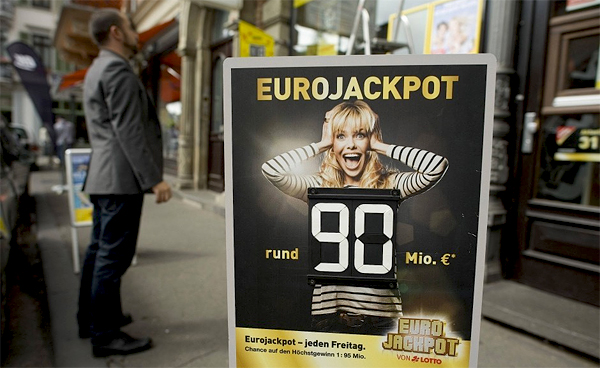 Tyskland vinner rekordstor Eurojackpot-vinst på 874 miljoner kronor