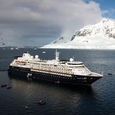Silversea Expeditions - Silver Cloud in Antarctica