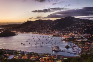 Charlotte Amalie, St Thomas at night
