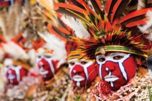Native tribe in Papua New Guinea