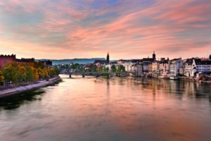River Rhine in Basel, Switzerland