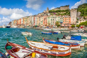 Fishing boats in Portovenere harbour, Italy