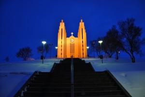 Akureyrarkirkja church, Akureyri, Iceland