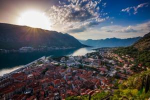 Sunrise over the Bay of Kotor, Montenegro