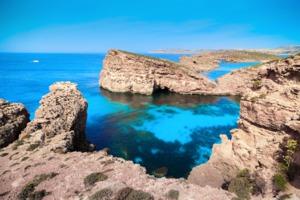 Blue Lagoon in Gozo, Malta