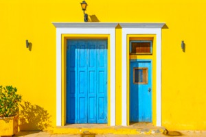 Building in Spetses, Greece