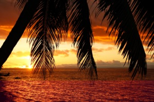Sunset on Vanua Levu, Fiji