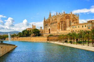 La Seu cathedral in Palma de Mallorca, Spain