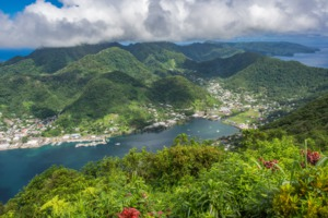 Aerial view of Pago Pago, American Samoa