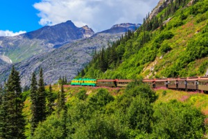 White Pass and Yukon Route railway near Skagway, Alaska