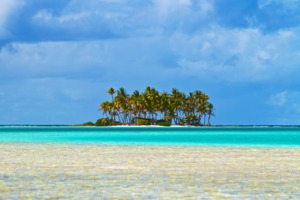 Island in the Rangiroa atoll, French Polynesia