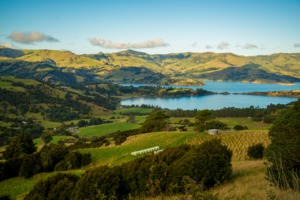 Akaroa bay, New Zealand