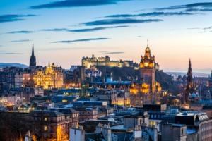 Sunset over Edinburgh, Scotland
