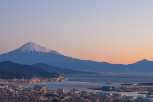 Mount Fuji and Shimizu, Japan