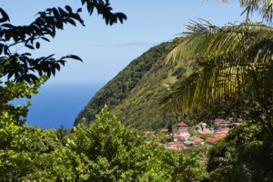 Saba island in the Dutch Caribbean