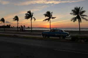 Sunset over the Malecón, Havana