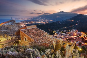 Taormina and Mount Etna, Sicily
