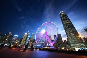 Observation wheel in Hong Kong