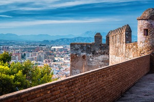 View from Gibralfaro fortress in Málaga, Spain