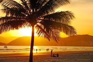 Beach in Santos, Brazil