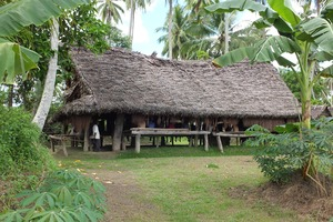 Men's house in Tambunum village, Sepik River, Papua New Guinea