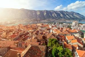 View of Kotor from Mount Lovcen, Montenegro