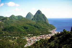 Soufrière and the Pitons, Saint Lucia