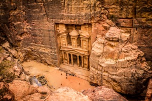 View of Petra, Jordan from above