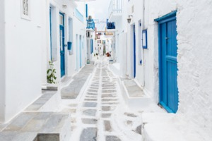Street in Mykonos, Greece