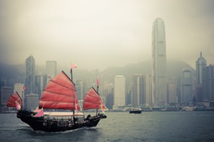 Traditional boat in Hong Kong