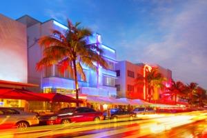 Miami South Beach at night