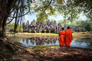 Monks at Angkor