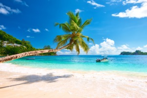 Beach on Mahé, Seychelles