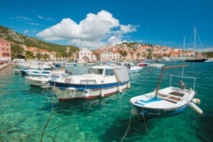 Boats in the harbour, Hvar