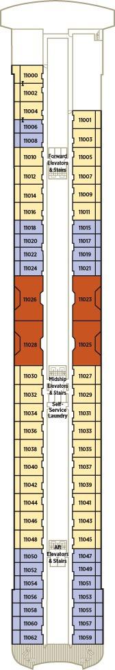 Crystal Serenity Deck Plans - Deck 11