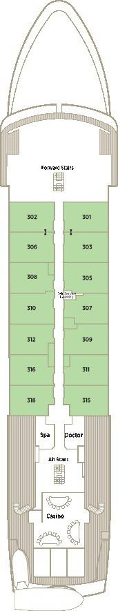 Crystal Esprit Deck Plans - Horizon Deck