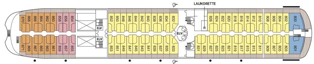 Regent Seven Seas Navigator deck plans - Deck 8