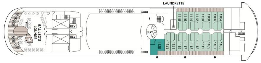 Regent Seven Seas Navigator deck plans - Deck 11