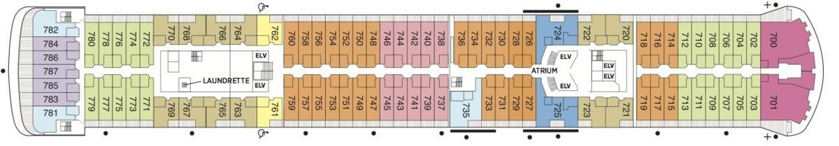 Regent Seven Seas Voyager deck plans - Deck 7
