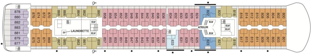 Regent Seven Seas Voyager deck plans - Deck 8