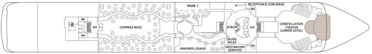 Regent Seven Seas Mariner deck plans - Deck 5