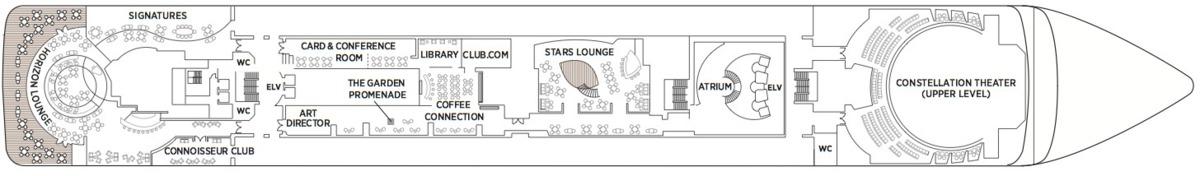 Regent Seven Seas Mariner deck plans - Deck 6